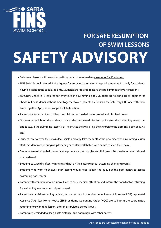 SAFETY ADVISORY 7 MAY 21