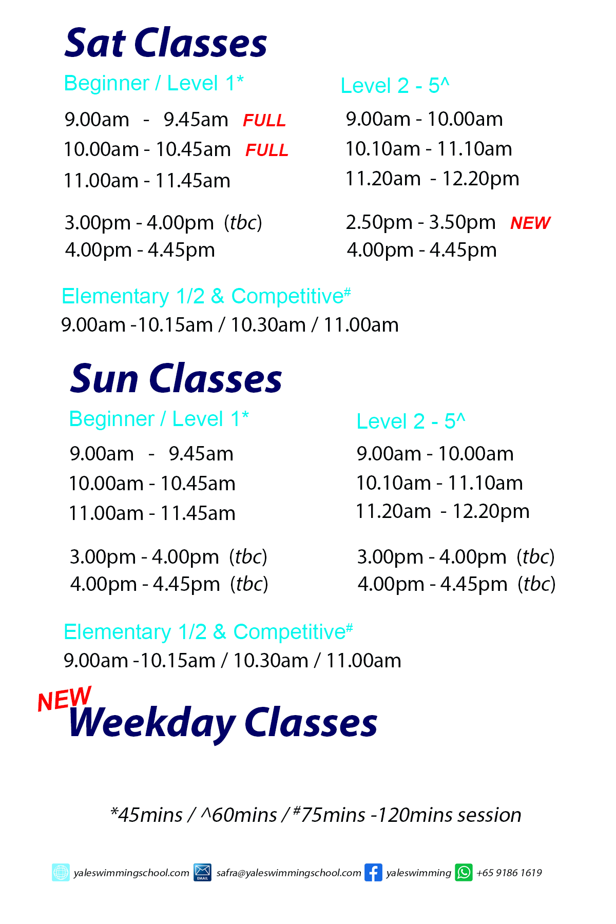 Schedule as at 19jan