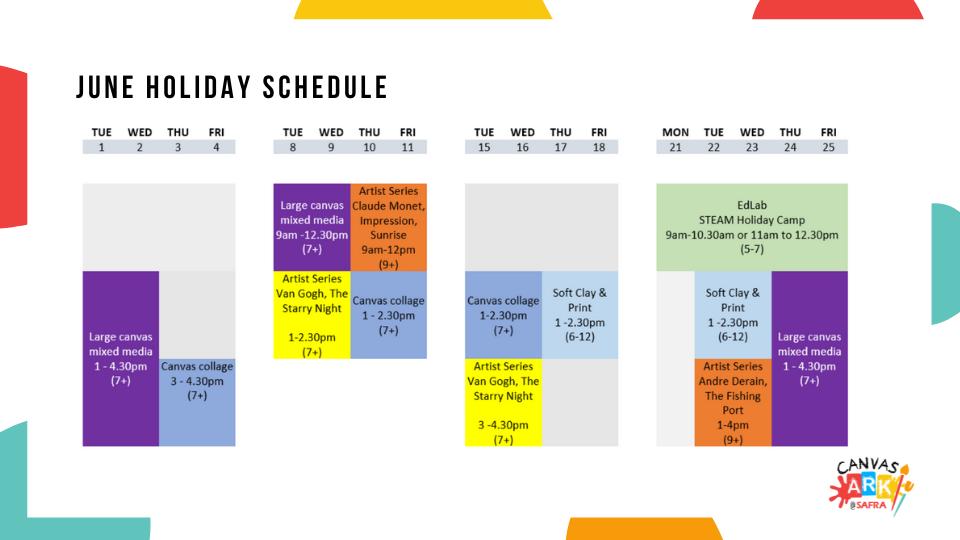 Canvas Ark June Holiday Programmes