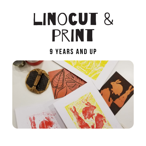 Linocut and print 9 and up