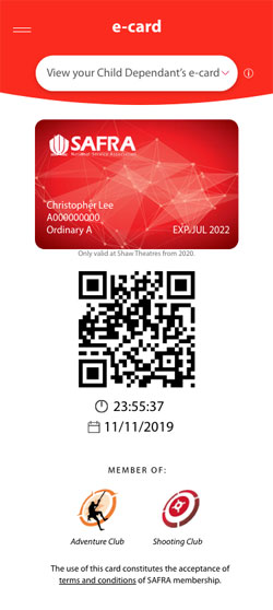 Dependant e-Card